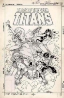 Unused Tales of the Teen Titans Cover # 81 (with Title). Comic Art